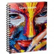 Скетчбук «Красочное лицо» 100 страниц, 03560.