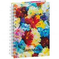 Скетчбук «Цветы» 100 страниц, 03577.