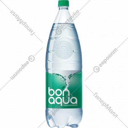 Вода питьевая «Bonaqua» плюс среднегазированная, 2 л.