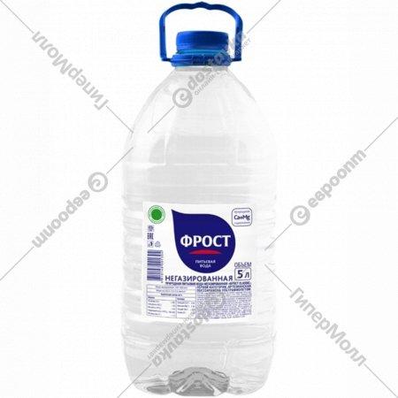Вода природная питьевая «Фрост» негазированная, 5 л.