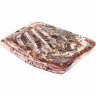 Грудинка свиная «По-домашнему» соленая, охлажденная, 1 кг., фасовка 1.2-1.4 кг