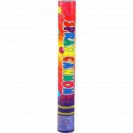 Хлопушка с разноцветными конфетти 40 см, 1 шт.