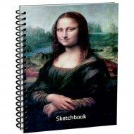 Скетчбук «Да Винчи. Мона Лиза» 100 страниц, 03607.
