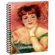 Скетчбук «Ренуар. Портрет Жанны Самари» 100 страниц, 03621.