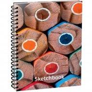 Скетчбук «Карандаши» 100 страниц, 03638.