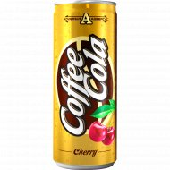 Напиток сильногазированный «Кофе-кола вишня» 0.25 л.