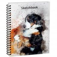 Скетчбук «Собака» 100 страниц, 03652.