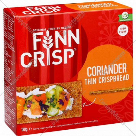 Сухарики «Finn Crisp» бородинские с кориандром 180 г.