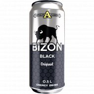 Напиток энергетический «Bizon Black» original energy drink, 0.5 л.