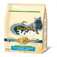 Корм для кошек «Gusto» со вкусом лосося, тунца, овощей, 1.5 кг.