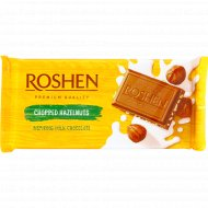 Шоколад молочный «Roshen» с дроблеными лесными орехами, 90 г.
