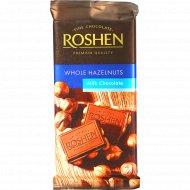 Молочный шоколад «Roshen» с целыми лесными орехами, 90 г.