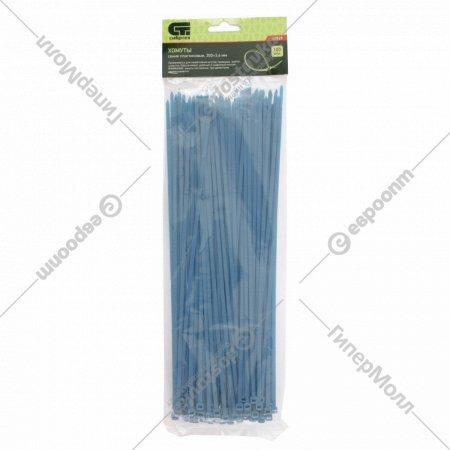 Хомуты, 300х3.6 мм, пластиковые, синие, 100 шт.