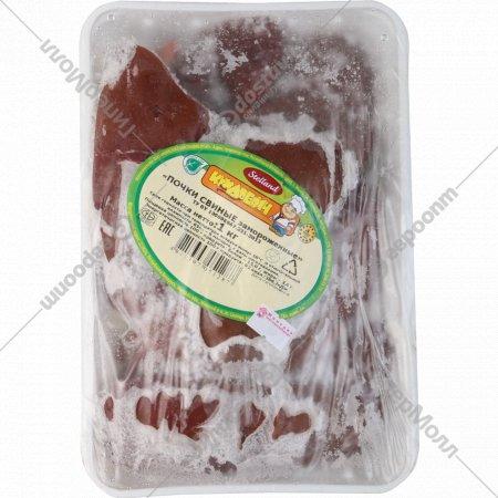 Почки свиные замороженные, 1 кг.