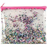 Пенал «Glitter» 80267, на молнии, 22x17 см.