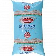 Молоко питьевое «Моя Славита» пастеризованное 1.5%, 900 мл.
