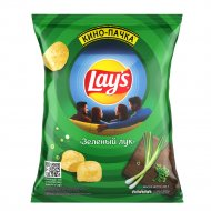 Чипсы «Lay's» со вкусом зелёного лука, 225 г.