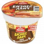 Пюре картофельное «Бизнес Ланч» со вкусом курицы гриль, 40 г.