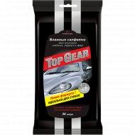 Салфетки влажные «Top Gear» для очистки стекол, зеркал и фар, 30 шт.