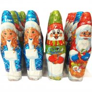 Фигурка шоколадная «Ассорти:Дед Мороз, Снегурочка, Снеговик» 40 г.