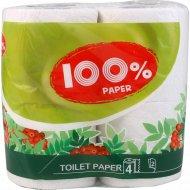 Бумага туалетная «Paper» Классик белая двухслойная, 4 рулона.