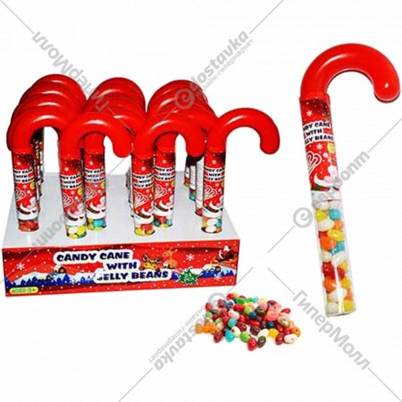 Драже жевательное «Candy Cane with Jelly Beans» 50 г.