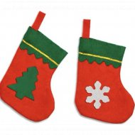 Декоративное украшение «Новогодний носок» 1 шт.