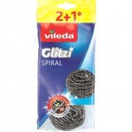 Губкаизметаллическойспирали «Vileda»2+1 шт.