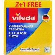 Салфеткауниверсальнаявискозная «Vileda» 2+1 шт.