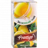 Чай зеленый «Prestige» с ароматом лимона, 20 пакетиков.