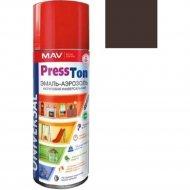 Эмаль «MAV» PressTon, шоколадно-коричневый, глянцевая, 520 мл