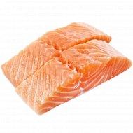 Продукт рыбный «Ломтики лосося» мороженый, 1 кг., фасовка 0.6-0.9 кг