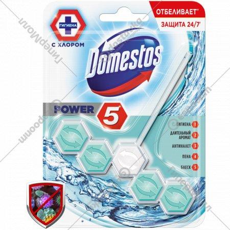 Блок для унитаза «Domestos» рower кристальная чистота, 55 г.