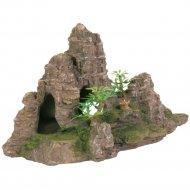 Декорация для аквариума «Гора с растениями» 22 см.