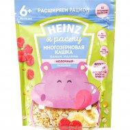 Каша молочная многозерновая «Heinz» лакомая банан-малина, 170 г.