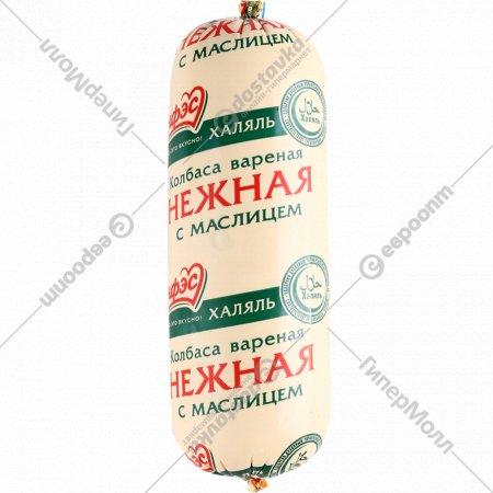 Колбаса варенная «Нежная с маслицем Халяль» куриная, 1кг., фасовка 0.65-0.75 кг