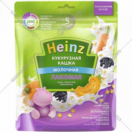 Каша кукурузная «Heinz» лакомая, тыква-чернослив-морковь, 170 г.