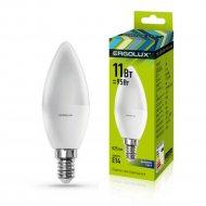 Лампа светодиодная «Ergolux» свеча, С35-11W-E14-6K.