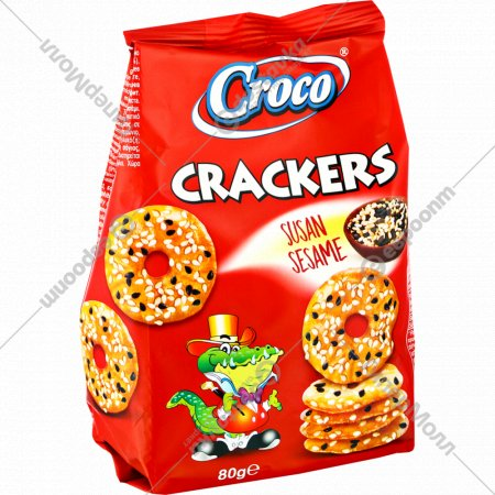 Крекер «Croco» с семенами кунжута, 80 г.