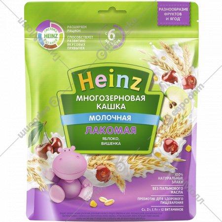 Каша молочная многозерновая «Heinz» лакомая яблоко-вишня, 170 г.