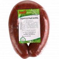Колбаса мясная «Суджук острый Халяль» высший сорт, 1 кг., фасовка 0.45-0.55 кг