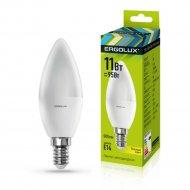 Лампа светодиодная «Ergolux» свеча, С35-11W-E14-3K.