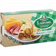 Блинчики «Бабушкина кухня» c ветчиной и сыром, 420 г.
