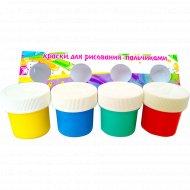 Краски для рисования пальцами 4 цвета.