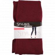 Легинсы женские «Stylan's» LEG-01, бордовый, размер M-L