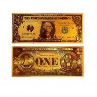Сувенирная банкнота «1$» двухсторонняя.