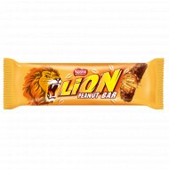 Вафельный батончик «Lion» с карамелью, хлопьями и арахисом, 40 г.
