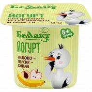 Йогурт детский «Беллакт» яблоко, персик и банан, 3%, 100 г