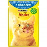 Корм для кошек «Friskies» с лососем в подливе, 85 г.