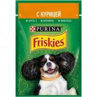 Влажный корм «Friskies» для взрослых собак, с курицей в подливе, 85 г.